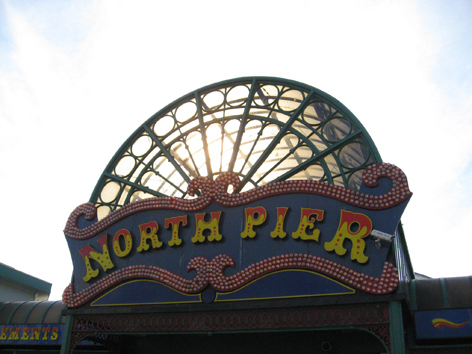 North pier sign