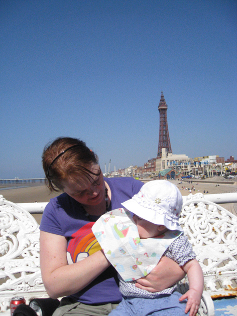 Gemma and olive on the central pier