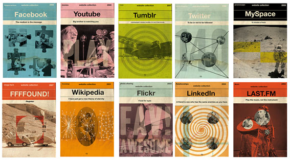 Internet as book covers