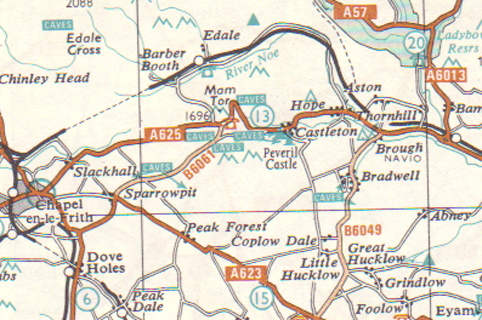 Map - AA Book of the Road 1966