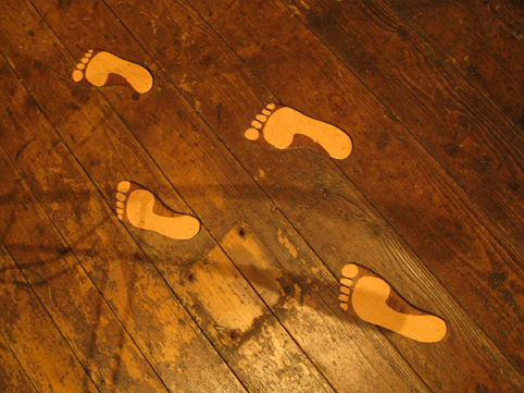 Footprints in the varnish
