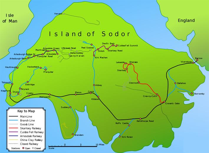 Sodor area map