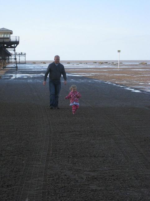 Pier shadow running