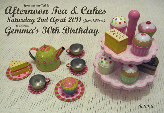 Gemma's tea party invite