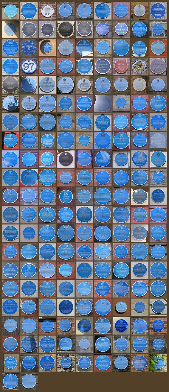182 blue plaques
