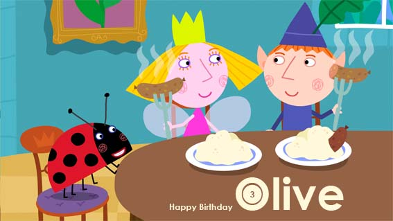 Olive's B'day Card 2011