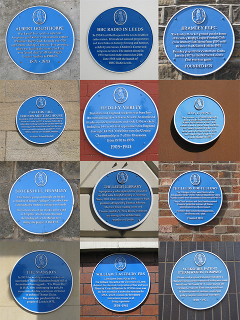 12 blue plaques small